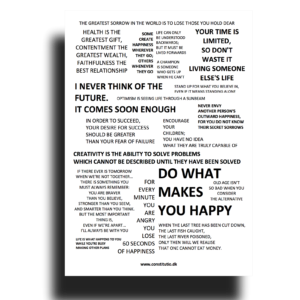 Citatplakater og kort med ordsprog